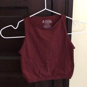 Free People Red High-Neck Crop Top. Marked XS/S